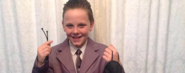 Boy causes stir with Christian Grey costume