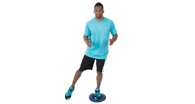 Single-Leg Stability Pad Touches