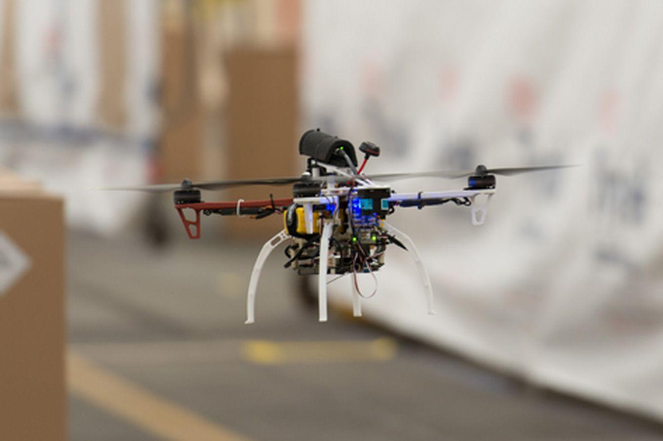 Watch this DARPA drone speed around a warehouse at 45 mph