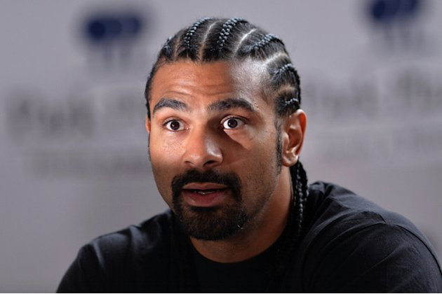 British Boxer David Haye Speaks  AFP/Getty Images