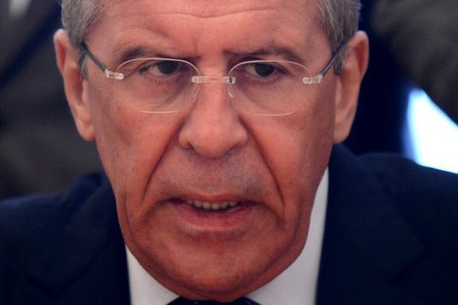 Russian Foreign Minister Sergei Lavrov, pictured in Moscow, on July 22, 2013. The defense and foreign ministers of Russia and the United States meet in Washington on Friday to brave the chill that has descended on ties between the former Cold War rivals.