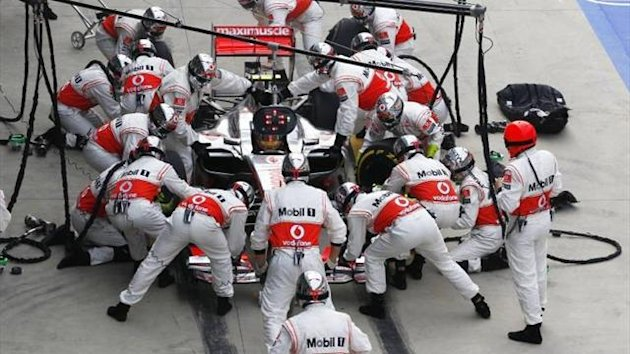 McLaren pitstop in Korea this year (Imago)
