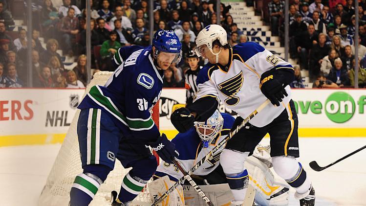 NHL: St. Louis Blues at Vancouver Canucks