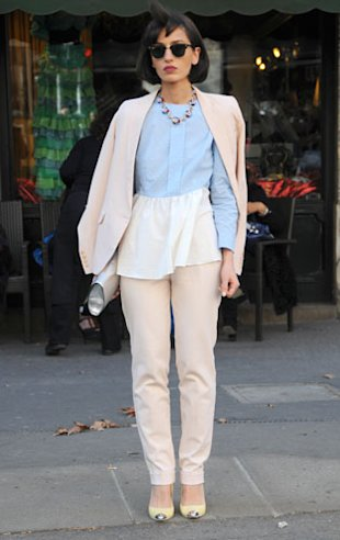The Pastel Trouser Suit: Natuka Wears Her Own Designs!