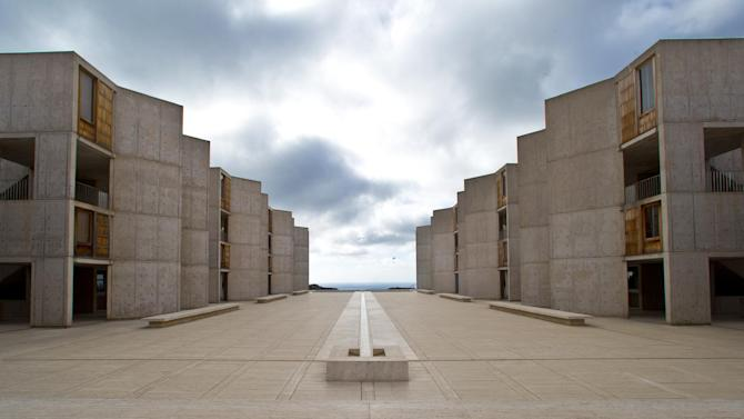 "This Oct. 3, 2013 photo shows The Salk Institute, designed by world renowned architect Louis I. Kahn, above the Pacific Ocean and adjacent the glider port and the University of California San Diego in San Diego. The nation's eighth-largest city has matured from its ""Fast Times at Ridgemont High"" surf days. Today it boasts a burgeoning international art scene, thriving farm-to-table food movement, and a booming bio-tech industry. (AP Photo/Lenny Ignelzi)"