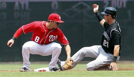 Nationals blow late lead, lose to Rockies 4-3
