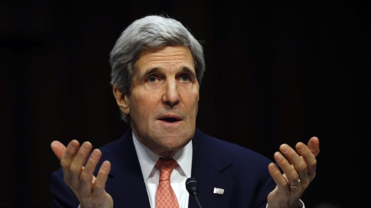 US Secretary of State Kerry testifies on Capitol Hill