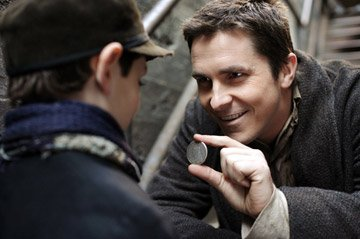 Anthony DeMarco and Christian Bale in Touchstone Pictures' The Prestige