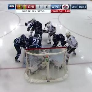 Corey Crawford Save on Blake Wheeler (03:40/2nd)