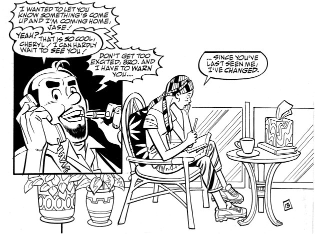 "In this image from Archie Comics, the character Cheryl Blossom finds out she has been diagnosed with breast cancer and has to make the decision of whether to stay on her own in California or return home to Riverdale, home of Archie, Reggie, Betty and Veronica. The story debuts in this month's issue of ""Life With Archie."" (AP Photo/Archie Comics)"