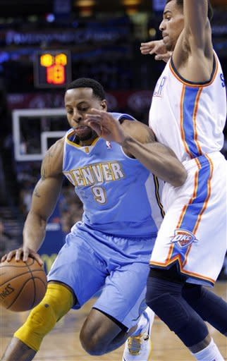Thunder snap Nuggets' win streak, 117-97