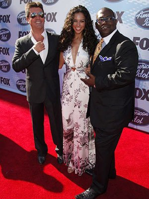 Simon Cowell, Terri Seymour and Randy Jackson American Idol Season Five Finale Arrivals Hollywood, CA - 5/24/06