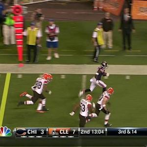 Chicago Bears wide receiver Santonio Holmes 32-yard touchdown