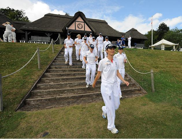 Cricket - First Womens Ashes Test Match - England Women v Australia Women - Wormsley Cricket Ground