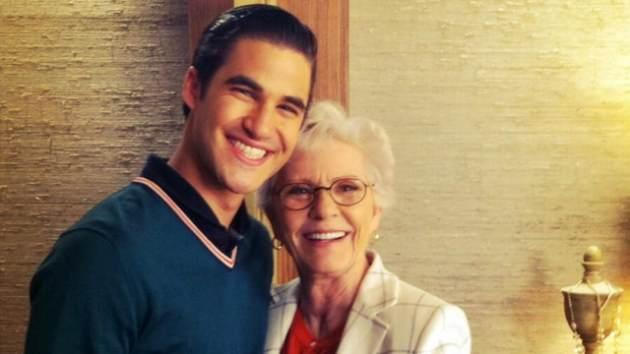 Ryan Murphy's Twitter photo of Darren Criss and Patty Duke, April 18, 2013 -- Ryan Murphy/Twitter