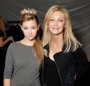 Heather Locklear and daughter Ava Sambora at 'White Trash Beautiful' by Richie Sambora and Nikki Lund at Sunset Gower Studios in Hollywood, California on March 19, 2010 -- WireImage