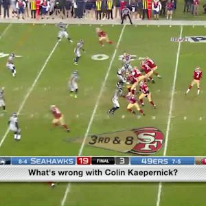 What's wrong with San Francisco 49ers quarterback Colin Kaepernick?