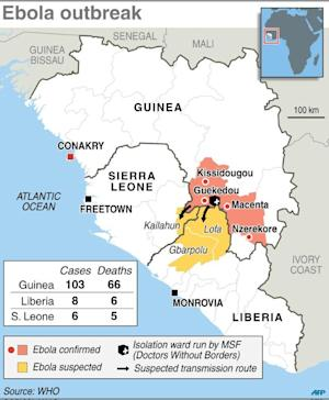 Ebola outbreak spreads to Liberia
