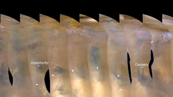 NASA Tracks Big Dust Storm on Mars