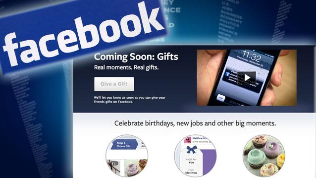 New Facebook Gift Service: Ready to Give FB Your Credit Card?