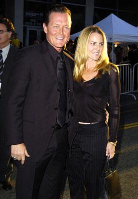 Premiere: Robert Patrick and wife Barbara at the Hollywood premiere of Touchstone Pictures' Ladder 49 - 9/20/2004