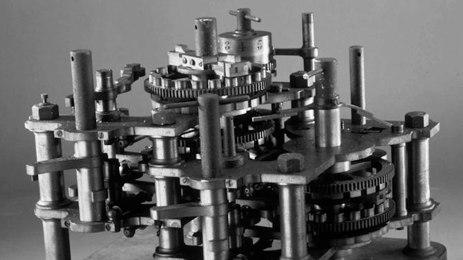 "FILE - This undated file photo shows a section of the ""Difference Engine"", the first computer ever made, designed by Charles Babbage between 1823 and 1842. From textile machines to the horseless carriage to email, technology has upended industries and wiped out jobs for centuries. It also has created millions of jobs, though usually not for the people who lost them. (AP File Photo)"