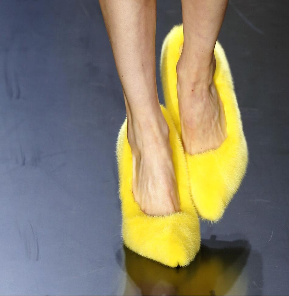 Celine Yellow Fur