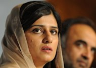 Pakistan Foreign Minister Hina Rabbani Khar addresses a press conference at the Foreign Ministry in Islamabad. She said it was time for Pakistan to &quot;move on&quot; and repair relations with the United States and NATO