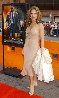 Jennifer Lopez at the LA premiere of 20th Century Fox's Man on Fire