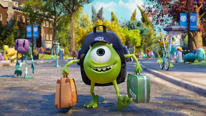 "This film publicity image released by Disney-Pixar shows Mike Wazowski, voiced by Billy Crystal in a scene from ""Monsters University."" (AP Photo/Disney-Pixar)"