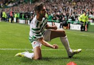 Celtic's Charlie Mulgrew celebrates scoring his side's second goal
