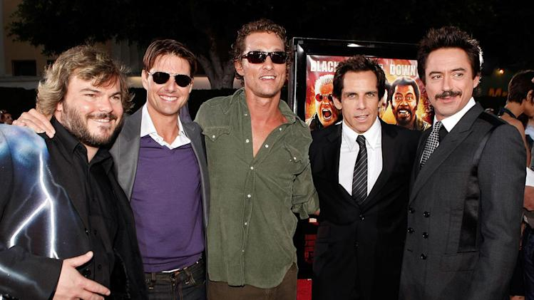 Tropic Thunder LA Premiere 2008 Jack Black Tom Cruise Matthew McConaughey Ben Stiller Robert Downey Jr