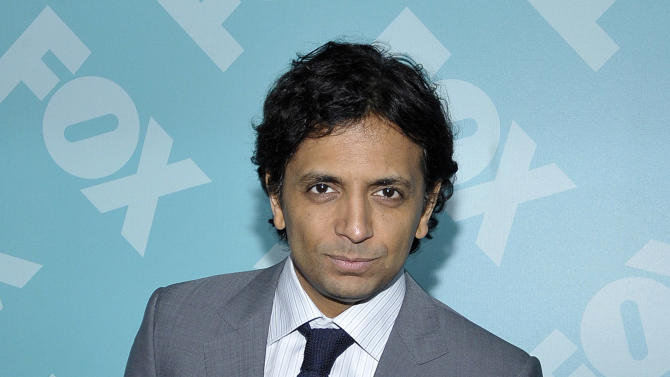 Director M. Night Shyamalan arrives at the 2013 FOX Programming Presentation Post Party at Wollman Rink in Central Park on Monday, May 13, 2013 in New York, New York. (Photo by Andrew Marks/Invision for FOX/AP Images)