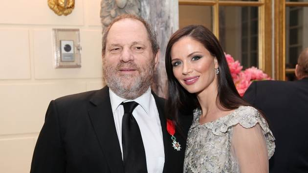 Harvey Weinstein and Georgina Chapman attend a reception for the screening of 'The Intouchables' at the French Embassy in New York City on April 30, 2012  -- Getty Premium