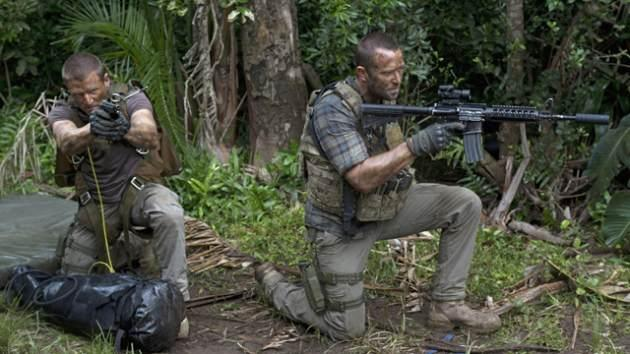 Stonebridge (Philip Winchester) and Scott (Sullivan Stapleton) carry out a mission in the deep jungles of Colombia in the first episode of season 3 of 'Strike Back,' which debuts August 9 exclusively on Cinemax -- David Bloomer/Cinemax