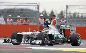 Mercedes Formula One driver Hamilton races during the Korean F1 Grand Prix at the Korea International Circuit in Yeongam