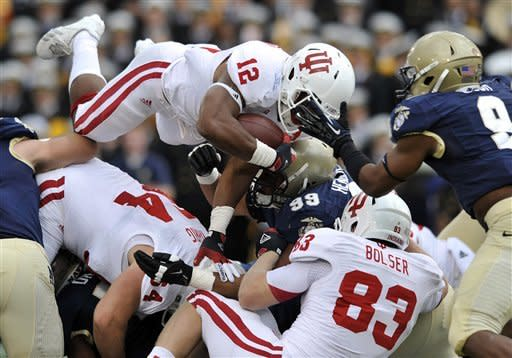 Late TD, interception lift Navy past Indiana 31-30