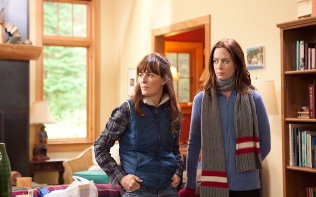 This film image released by IFC Films shows Rosemarie DeWitt, left, and Emily Blunt in a scene from &quot;Your Sister&#39;s Sister.&quot; (AP Photo/IFC Films, Tadd Sackville-West)