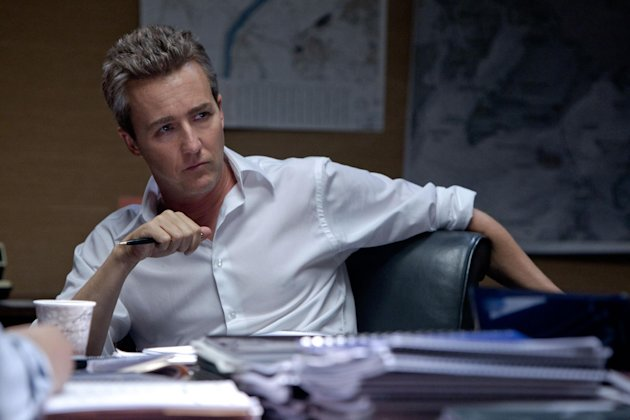 This film image released by Universal Pictures shows Edward Norton as Ret. Col. Eric Byer in a scene from &quot;The Bourne Legacy.&quot; (AP Photo/Universal Pictures, Mary Cybulski)