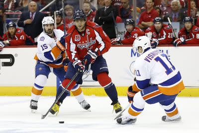 NHL Friday: Capitals aim to even series against Islanders
