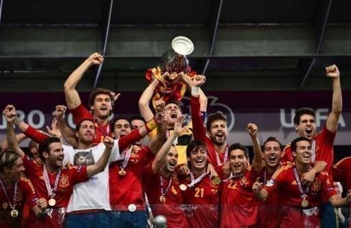 Spain's players celebrate&nbsp;&hellip;