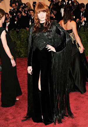 Florence Welch Cut Fringe From Givenchy Dress at Met Ball After-Party