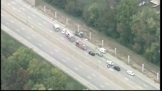 Raw aerials: 1 killed in I-264 crash