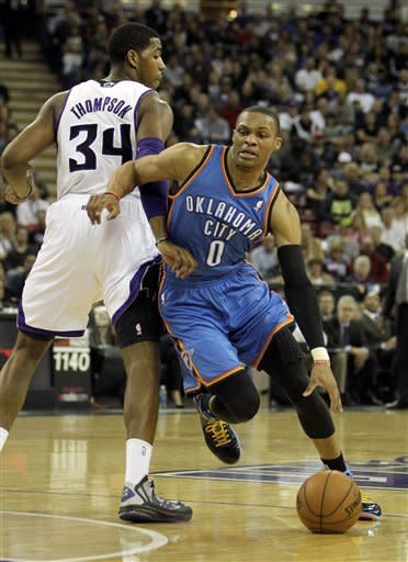 Big 3 lead surging Thunder past Kings 105-95