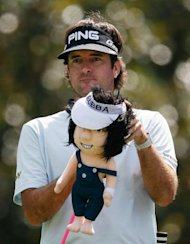 Bubba Watson waits to his his tee shot on the eighth hole during the second round of the Tour Championship by Coca-Cola, at East Lake Golf Club, on September 21, in Atlanta, Georgia. After the round, Jim Furyk is leading by one stroke over Justin Rose, with Watson and Bo Van Pelt two off the pace