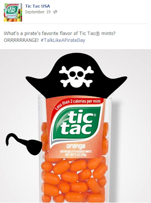 3 Takeaways from Tic Tac's Flavorful Facebook Content image tic tac 2