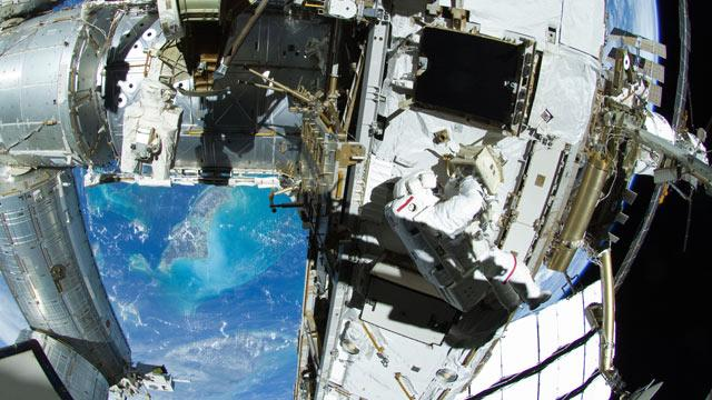 Spacewalking Astronauts Fix Space Station With Toothbrush