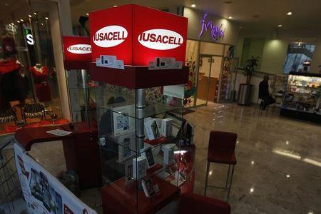 Iusacell stall is seen at a shopping mall in Mexico City