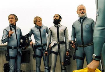 Pawel Wdowczak , Owen Wilson , Warus Ahluwala and Bill Murray in Touchstone Pictures' The Life Aquatic with Steve Zissou
