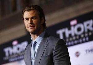 "Cast member Hemsworth poses at the premiere of ""Thor: The Dark World"" in Hollywood"